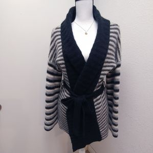 Greatplains belted wrapped cardigan sweater